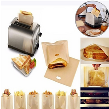 Load image into Gallery viewer, Reusable Toaster Bag Non Stick Bread Bag