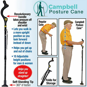 Folding Telescopic Non-Slip Cane