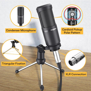 Audio Podcaster With Condenser Mic & Earphone
