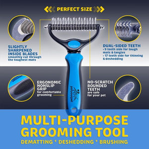 Double Pet Grooming Brush