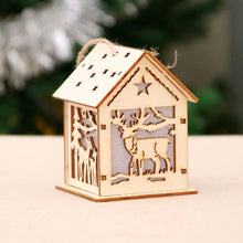 Load image into Gallery viewer, Led Light Wood House Christmas (4 PCS)