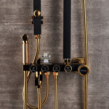 Load image into Gallery viewer, Luxury Black Golden Shower Set