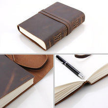 Load image into Gallery viewer, Leather Journal Travel Notebook