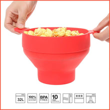 Load image into Gallery viewer, Silicone Popcorn Bucket Bowl