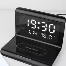Load image into Gallery viewer, Digital Alarm Clock Wireless Charger