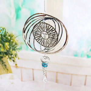 Metal Rotating Wind Chime