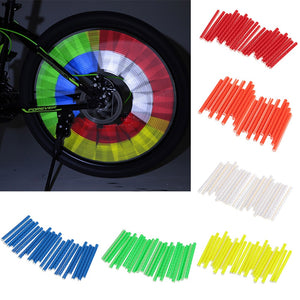 Bicycle Wheel Reflector Tubes