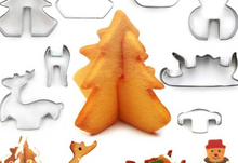 Load image into Gallery viewer, 3D Christmas Cookie Cutters (8pcs)