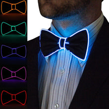 Load image into Gallery viewer, LED Light Bow Tie