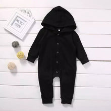 Load image into Gallery viewer, Winter Hooded Baby Romper