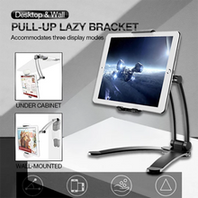 Load image into Gallery viewer, Desktop & Wall Pull-Up Lazy Bracket