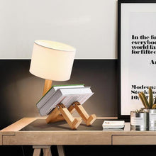 Load image into Gallery viewer, Nordic Wooden Robot Lamp