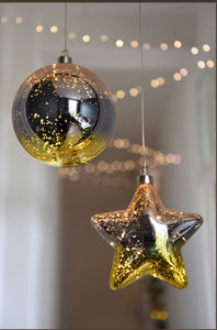Glass bauble and star from Lightstyle London