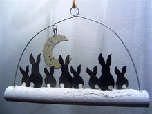 Load image into Gallery viewer, Moon gazing rabbits decoration