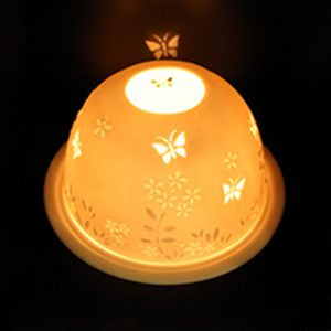Light glow -tea light holder -Butterflies