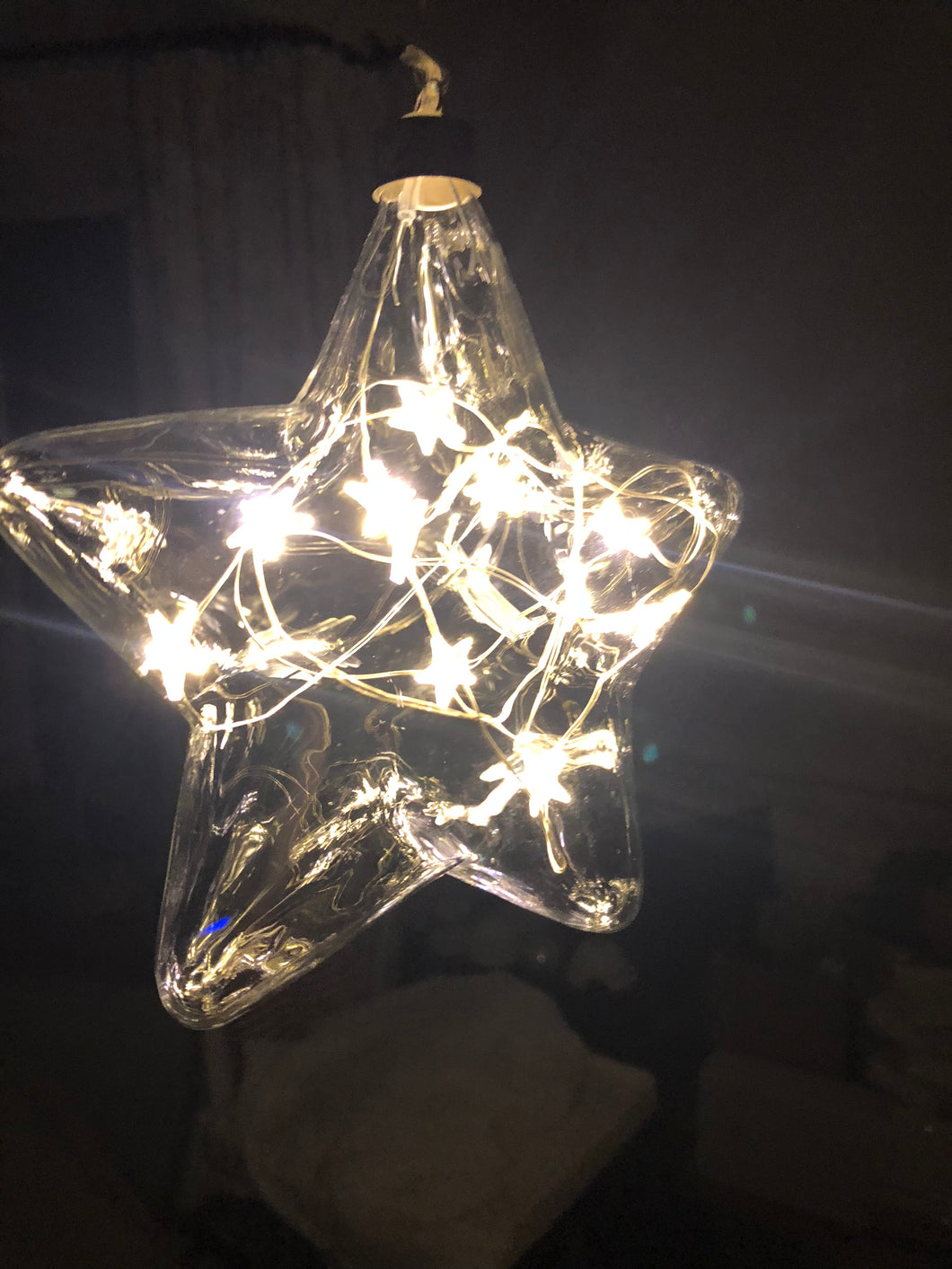 LED small glass star