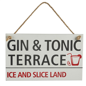 'Gin and Tonic' sign