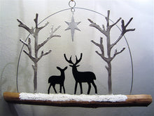 Load image into Gallery viewer, Deer by Starlight - hanging decoration