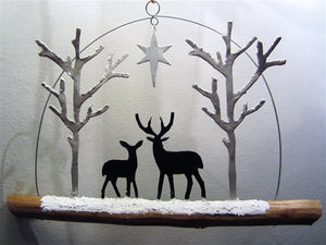 Deer by Starlight - hanging decoration