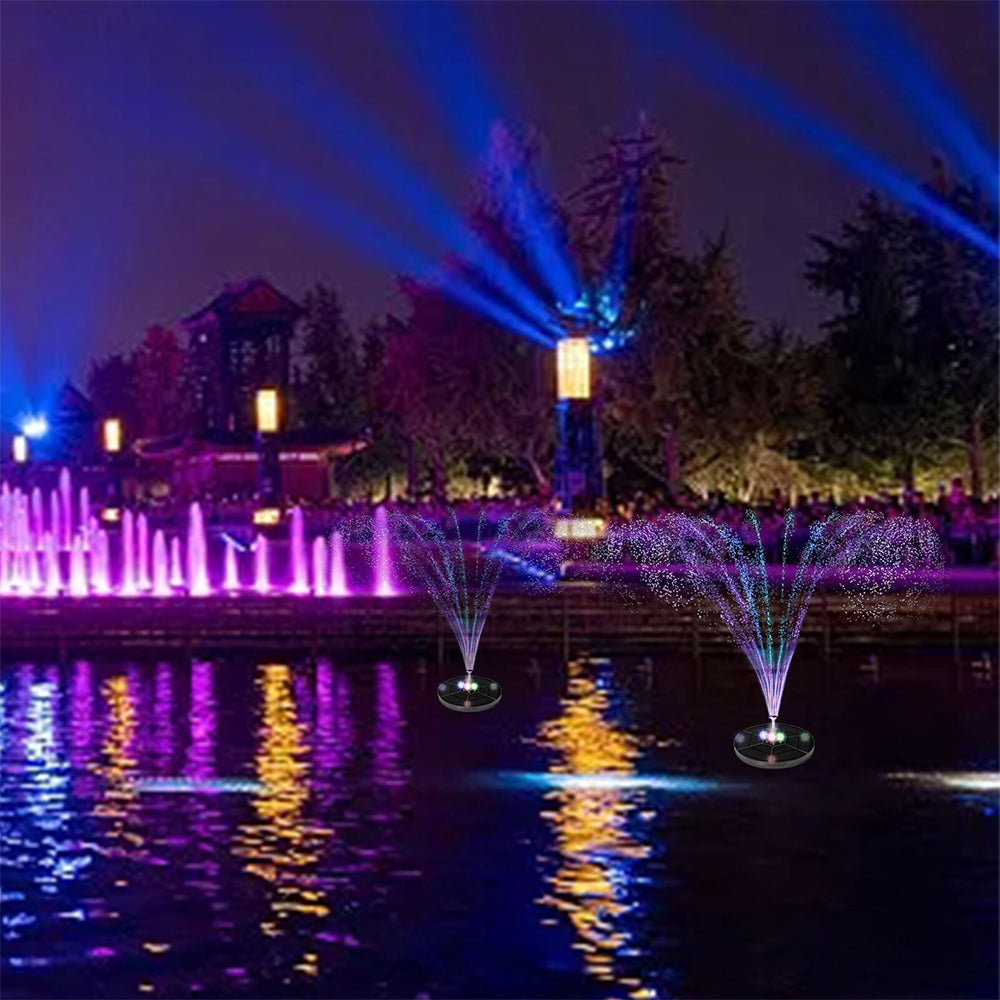 2021 Upgraded Solar led light fountain pump