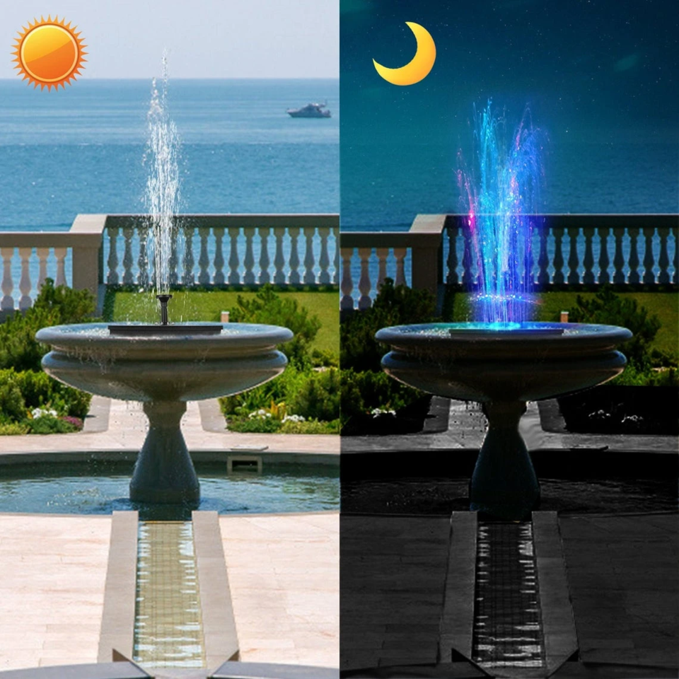 New 2021 Upgraded Solar led light fountain pump