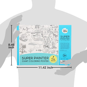 Giant colouring poster pad - The world