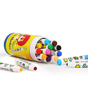 Toddler friendly washable markers 12 pack