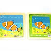 Wooden clown fish 9pce puzzle