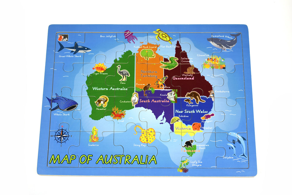Map of Australia 2-in-1 thick jigsaw