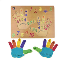 Left and right hand puzzle