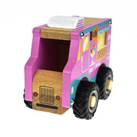Wooden ice-cream truck