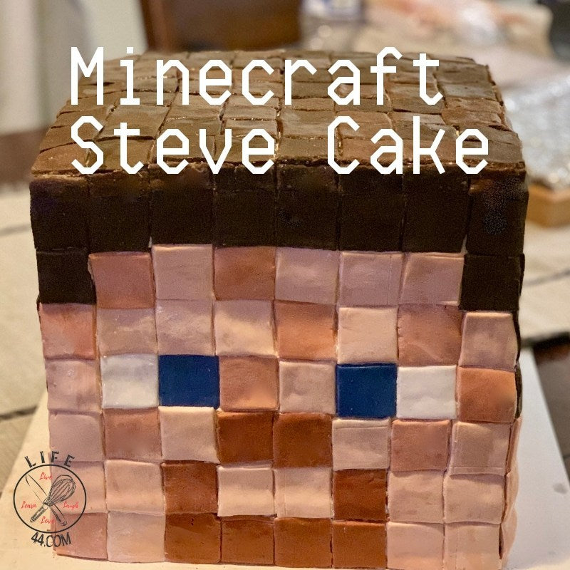 Minecraft Steve Birthday Cake