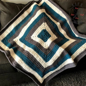 Crochet Plush Square Throw