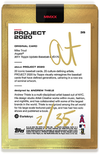 Andrew Thiele Mike Trout Autograph - Gold Tier Set