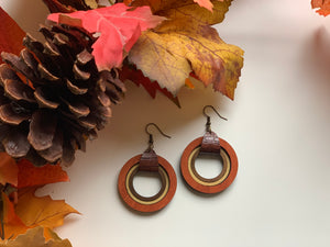 Fall Dangle Hoop Earrings