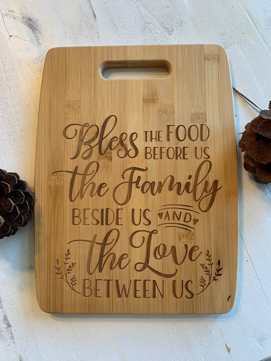 Bless This Food Engraved Cutting Board