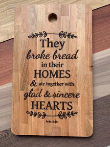 Broke Bread Custom Engraved Cutting Board