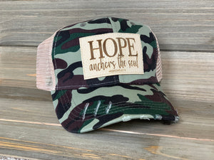 Vintage Trucker Distressed Mesh Hat Camo Print