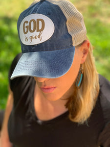 Vintage Trucker Mesh Hat - God Is Good