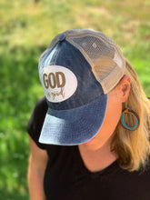Load image into Gallery viewer, Vintage Trucker Mesh Hat - God Is Good