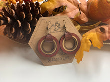 Load image into Gallery viewer, Fall Dangle Hoop Earrings