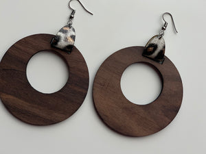 Rustic Boho Hoop Earrings