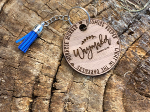 Wood Keychain Bible Verse Waymaker Miracle Worker