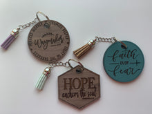 Load image into Gallery viewer, Faith Turquoise Keychain