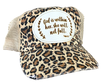 Load image into Gallery viewer, Leopard Print Vintage Mesh Trucker Hat