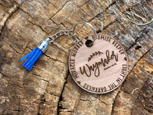 Load image into Gallery viewer, Wood Keychain Bible Verse Waymaker Miracle Worker