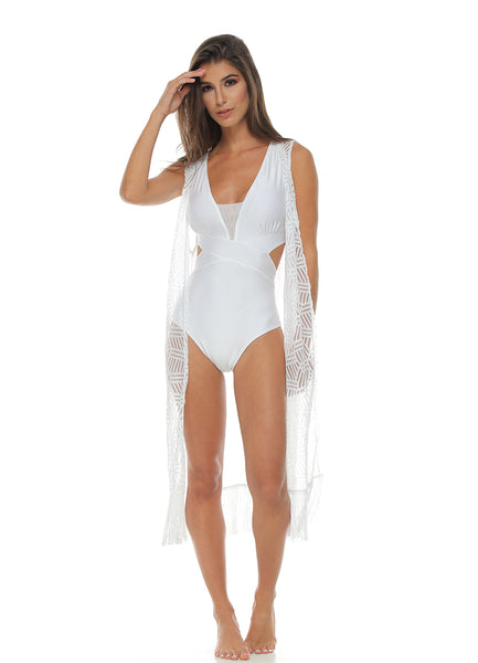 White <br>Beach Coverup
