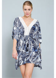 Navy Kaftan <br>Coverup