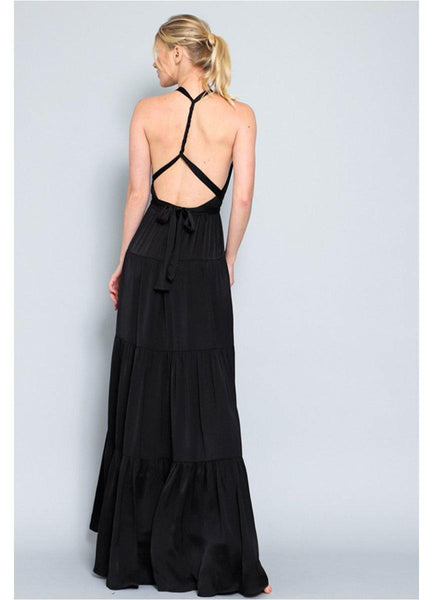Black Sleeveless <br>Maxi Dress