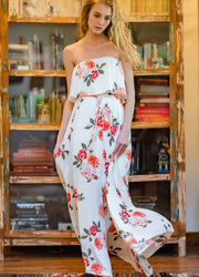White floral <br>Maxi Dress